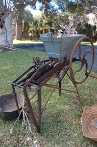 Agricultural implements were on display.