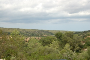 Extensive views of the Mallorcan countryside.