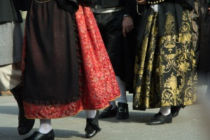 Fabulous fabrics in traditional local costume