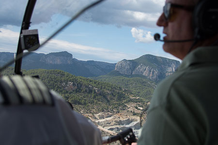 Up in an R66 Turbine over Mallorca