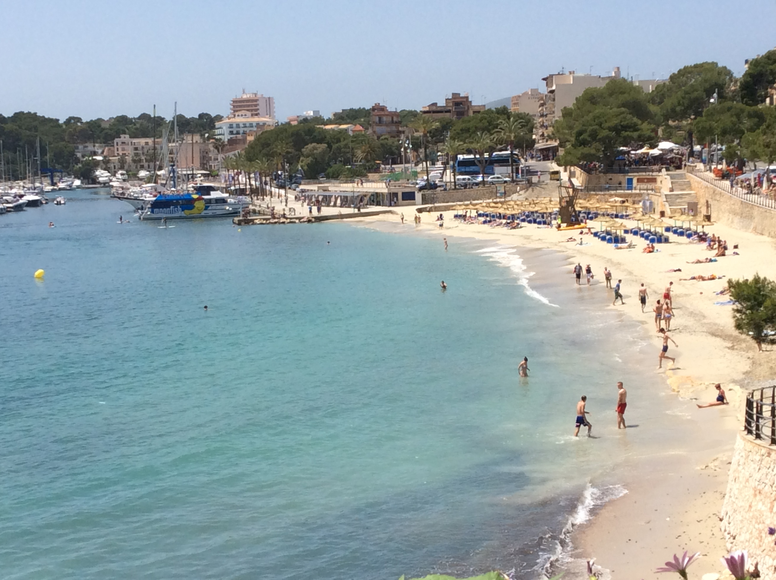 Porto Cristo beach in the quieter month of May