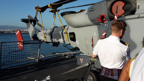 Helicopter on HMS Duncan