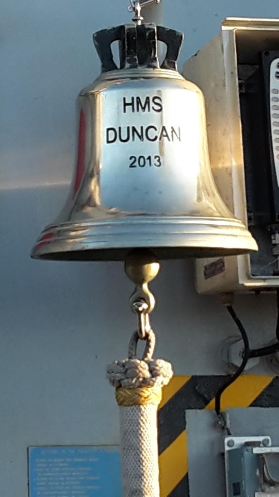 Ship's bell on HMS Duncan