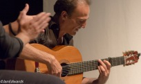 Guitarist Jose Cortes performing during Flamallorca's show