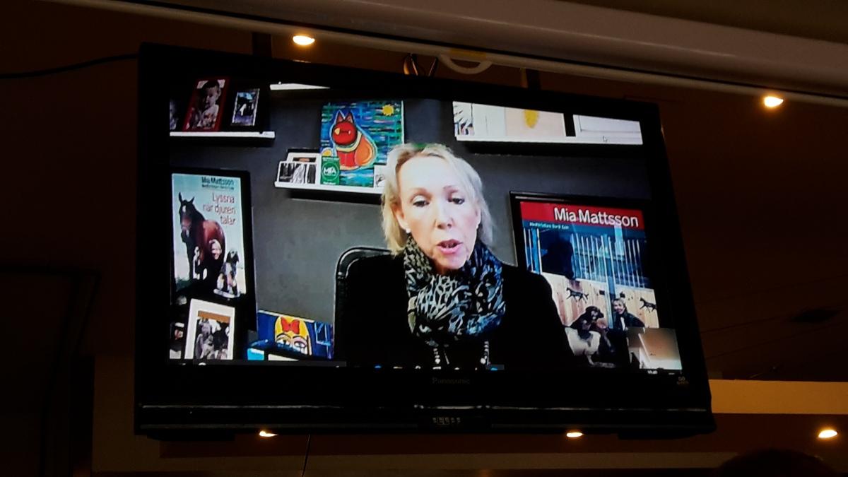 Animal communicator Mia Mattsson on Skype