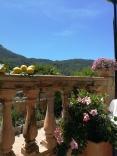 On the terrace at Es Raco d'es Teix